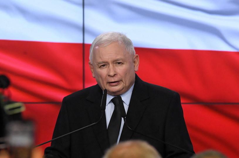 Jarosław Kaczyński w sztabie PiS / Radek Pietruszka   /PAP