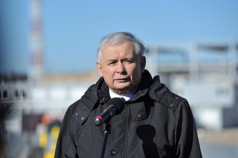 Jarosław Kaczyński w ubiegłym tygodniu był także w Świnoujściu /Marcin Bielecki /PAP