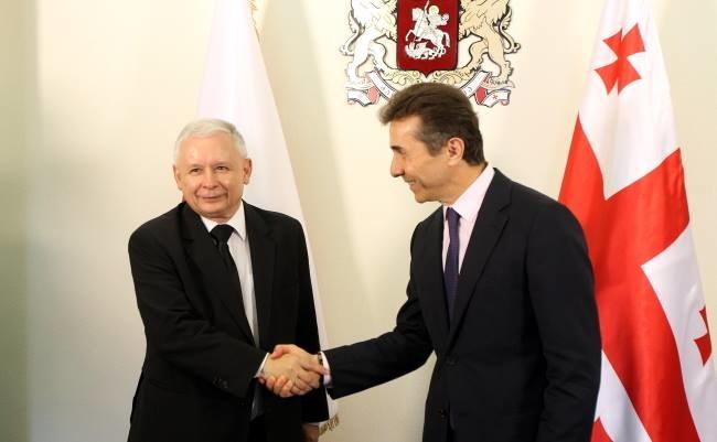 Jarosław Kaczyński z Bidziną Iwaniszwilim /PAP