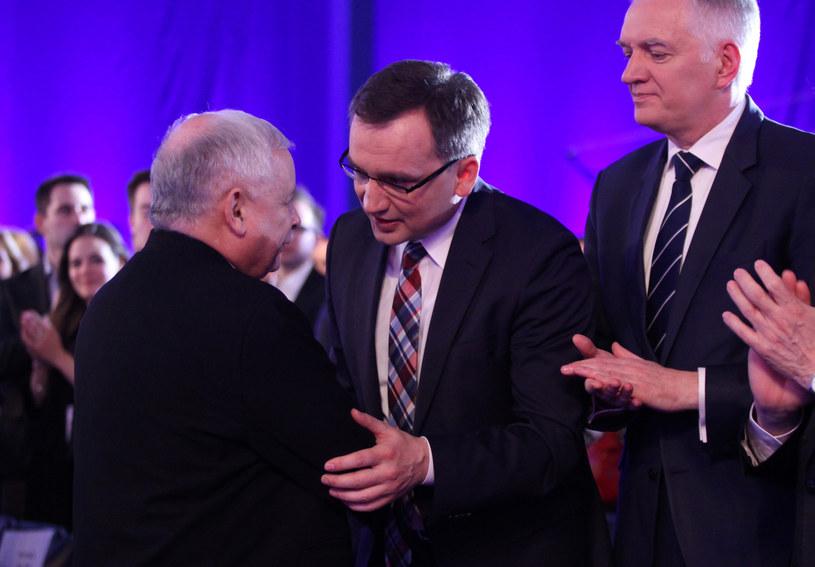 Jarosław Kaczyński, Zbigniew Ziobro i Jarosław Gowin /STEFAN MASZEWSKI/REPORTER /Reporter