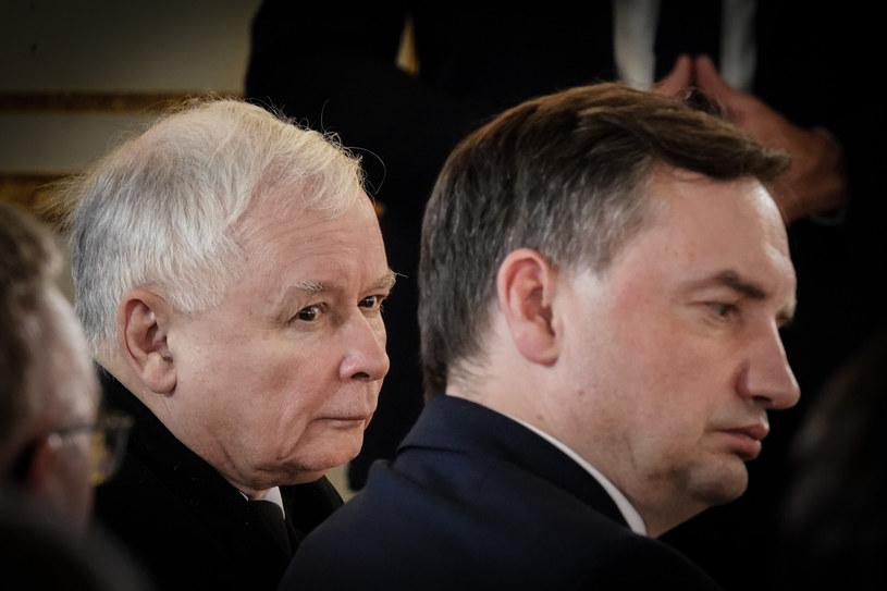 Jarosław Kaczyński, Zbigniew Ziobro /Jacek Dominski/ /Reporter