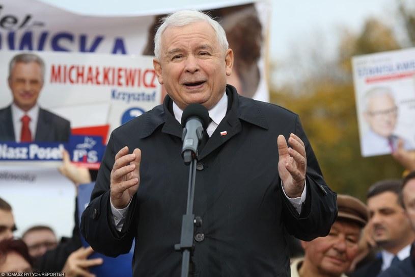 Jarosław Kaczyński /Tomasz RYTYCH /Reporter