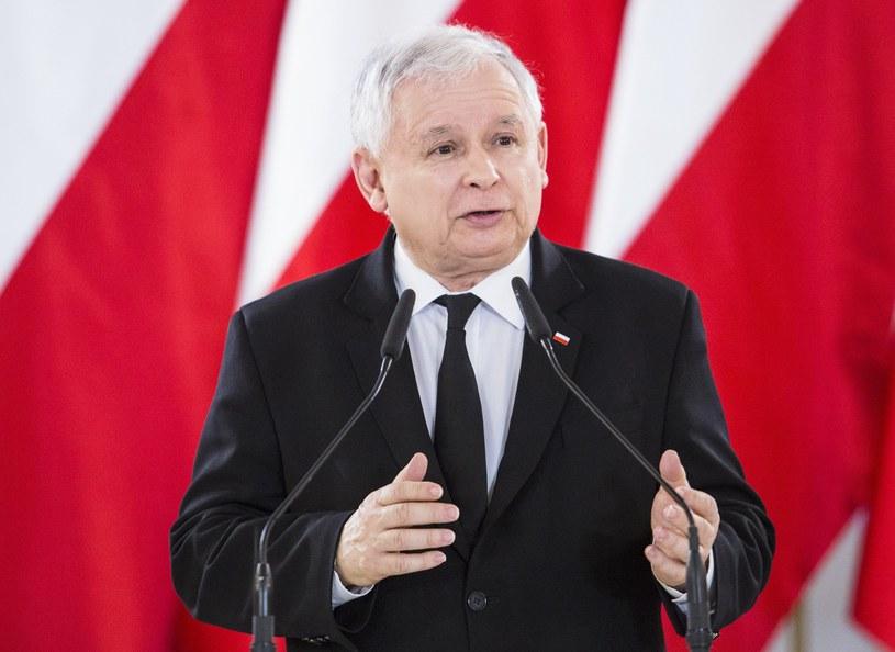 Jarosław Kaczyński /Andrzej Hulimka  /Reporter