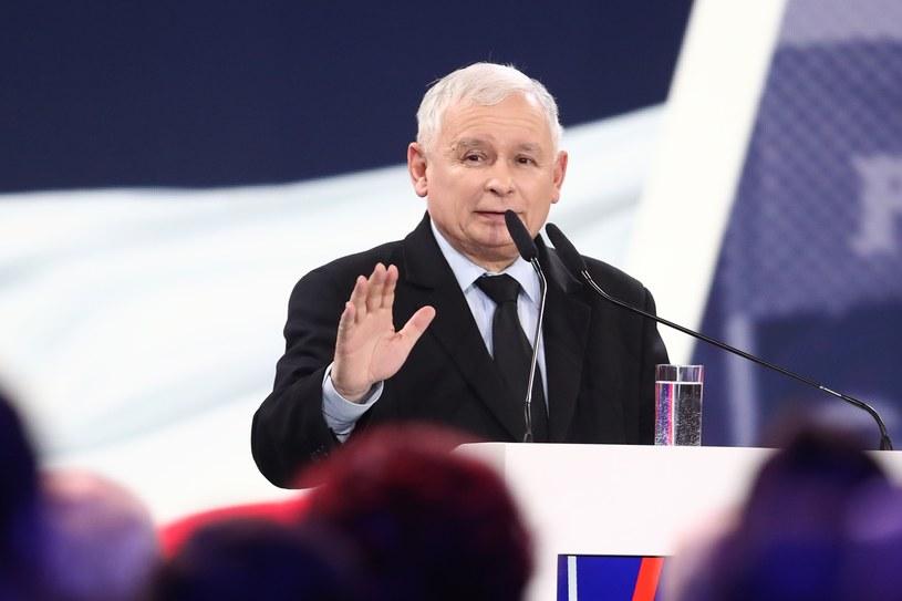 Jarosław Kaczyński /fot. Andrzej Iwanczuk /Reporter