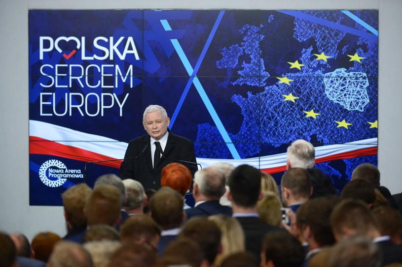Jarosław Kaczyński / Jakub Kamiński    /PAP
