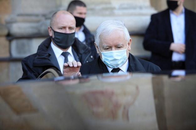Jarosław Kaczyński / Leszek Szymański    /PAP