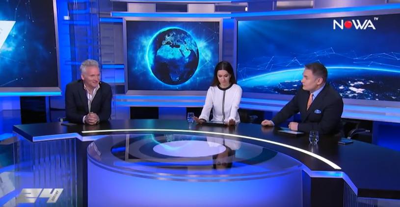 Jarosław Kret, Beata Tadla i Marek Czyż w NOWA TV /YouTube /materiał zewnętrzny