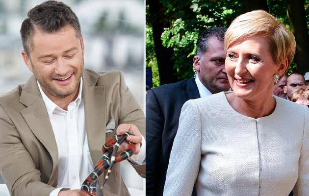 Jarosław Kuźniar i Agata Duda /- /East News
