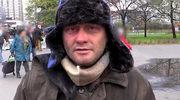 Jarosław Kuźniar jako bezdomny