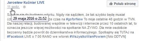 Jarosław Kuźniar zaskoczył tym wpisem wszystkich fanów /materiały prasowe