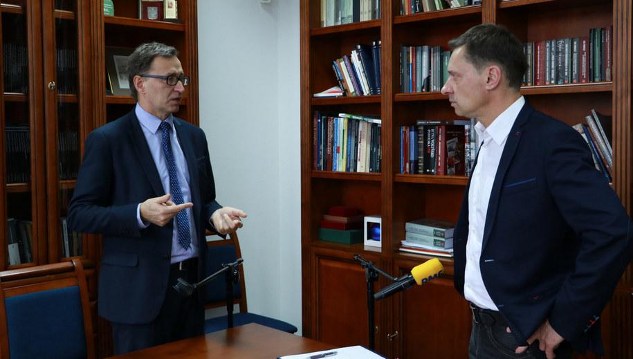 Jarosław Szarek i Krzysztof Ziemiec /Michał Dukaczewski /RMF FM