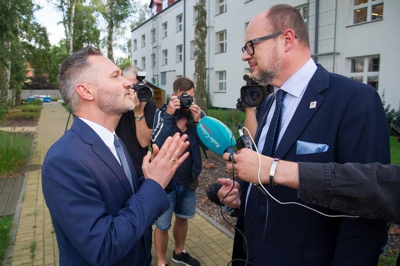 Jarosław Wałęsa i Paweł Adamowicz /Wojciech Strozyk/ /Reporter