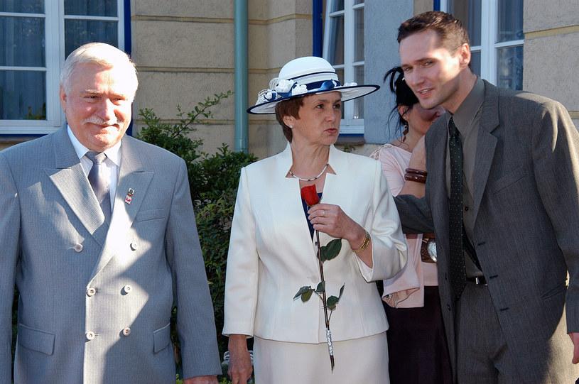 Jarosław Wałęsa z rodzicami - Lechem i Danutą /Niemiec /AKPA