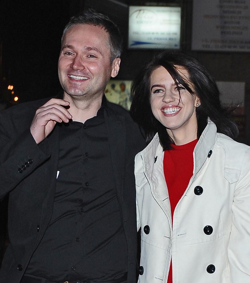 Jarosław Wałęsa z żoną Eweliną /Andras Szilagyi /MWMedia