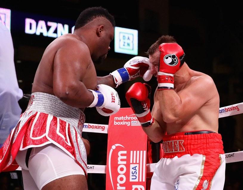 Jarrell Miller w pojedynku z Tomaszem Adamkiem /AFP