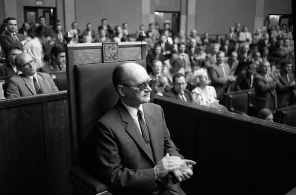 Wojciech Jaruzelski po wyborze na prezydenta