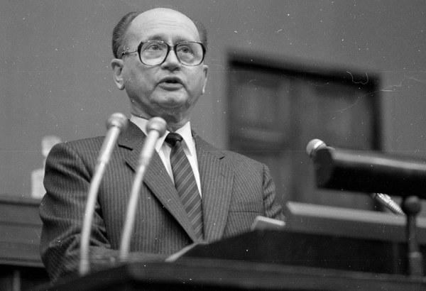 Wojciech Jaruzelski podczas przemówienia