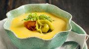 Jarzynowy krem z tortellini