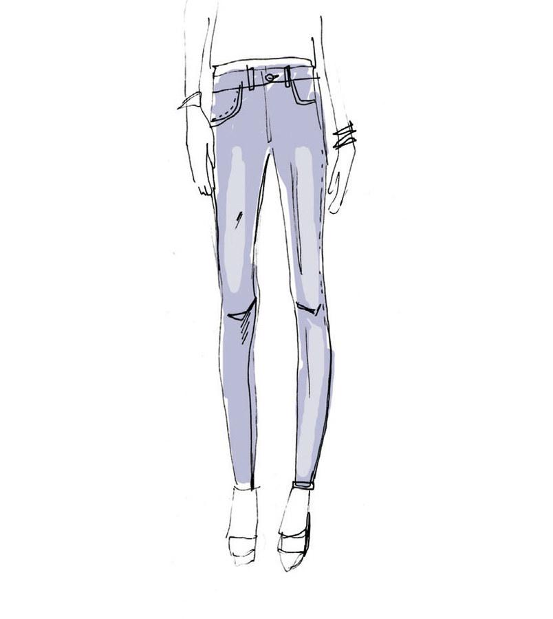 Jasne spodnie z  przetarciami /materiały prasowe