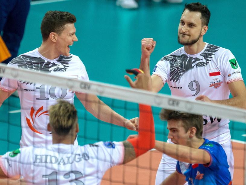 Jastrzębianie liczą, że uda im się awansowować do kolejnej rundy play off LM / Andrzej Grygiel    /PAP