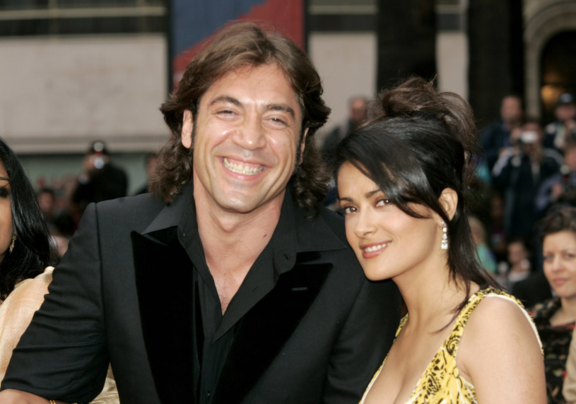 Javier Bardem i Salma Hayek na festiwalu w Cannes 2005 /Jeff Vespa/WireImage /Getty Images