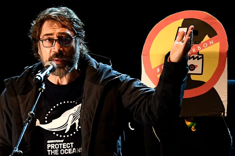 Javier Bardem na COP25 w Madrycie /AFP