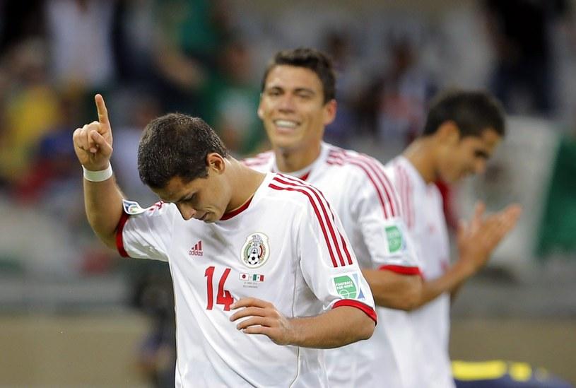 "Javier ""Chicharito"" Hernandez strzelił dwa gole Japonii /PAP/EPA"