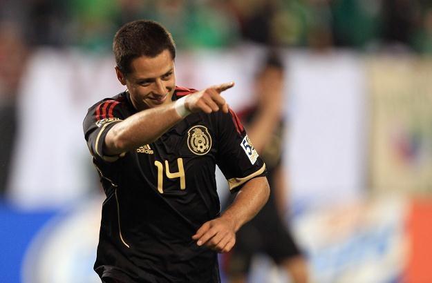 Javier Hernandez to największa gwiazda obecnej reprezentacji Meksyku /AFP