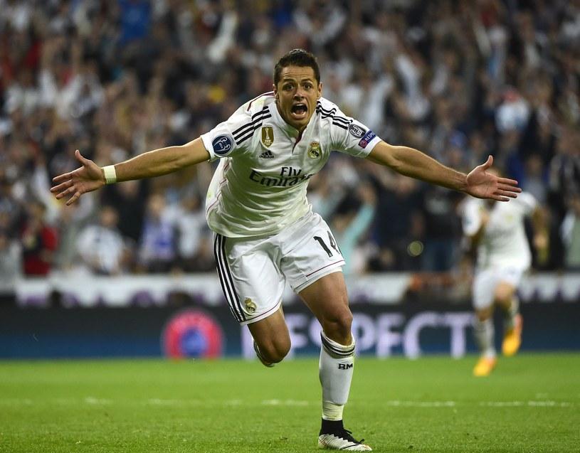 Javier Hernandez zapewnił awans Realowi Madryt /AFP