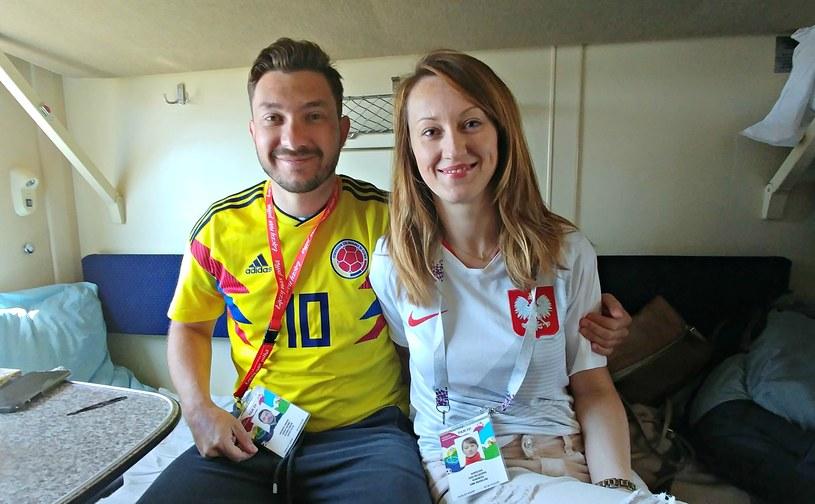 Javier i Ania są zgodnym małżeństwem, ale niekoniecznie gdy na boisku mierzą się ich drużyny narodowe... /Michał Białoński /INTERIA.PL