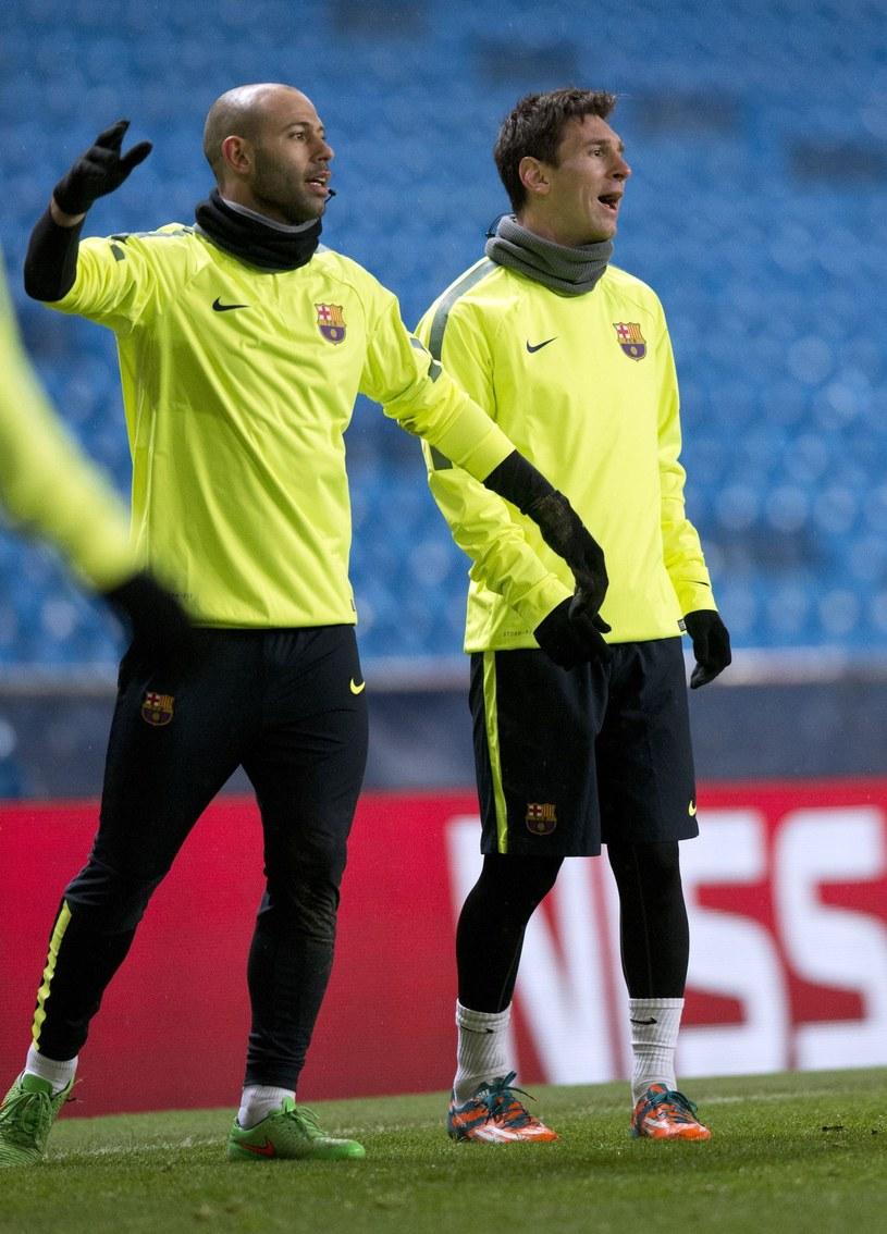 Javier Mascherano i Lionel Messi /AFP