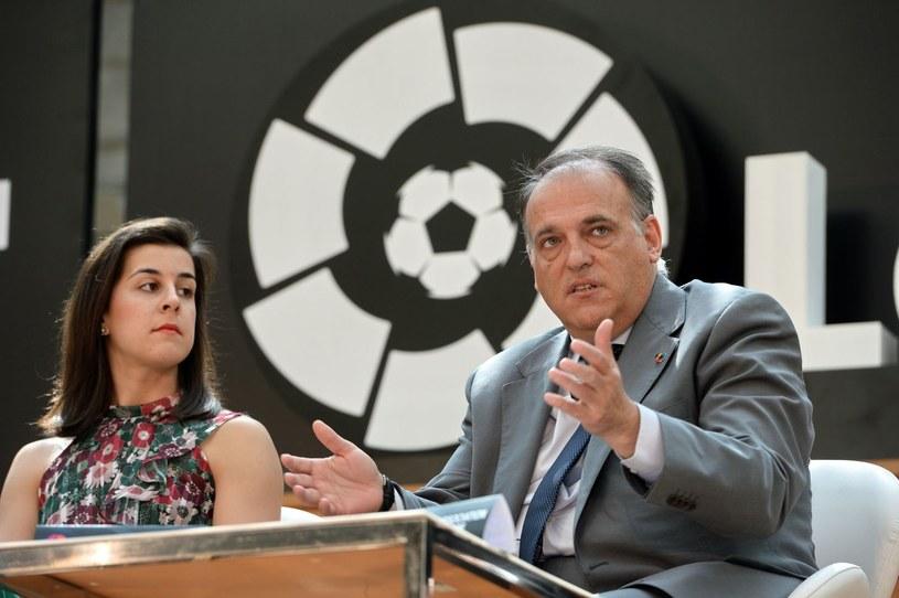 Javier Tebas, prezes La Liga /AFP