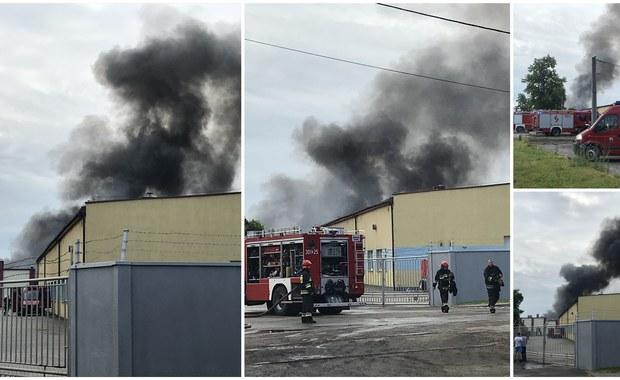 Jaworzno: Ogromny pożar hal magazynowych