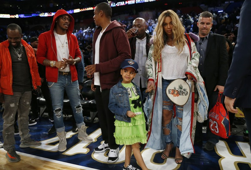 Jay Z, Blue Ivy i Beyonce /East News