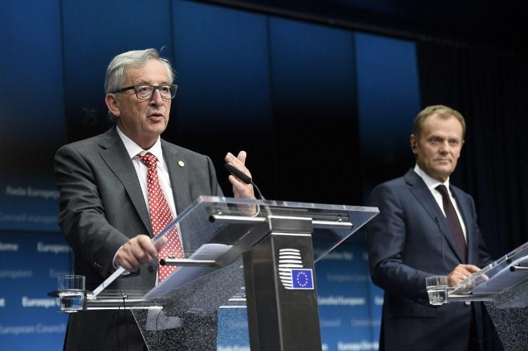 Jean-Claude Juncker, Donald Tusk /AFP