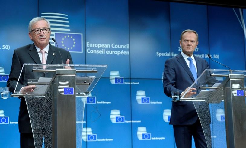 Jean-Claude Juncker i Donald Tusk /AFP