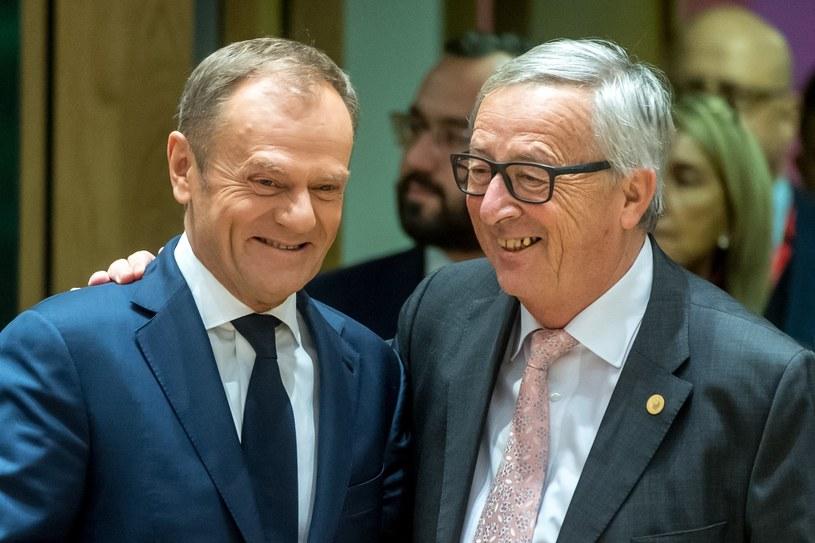 Jean-Claude Juncker i Donald Tusk /Isopix /East News