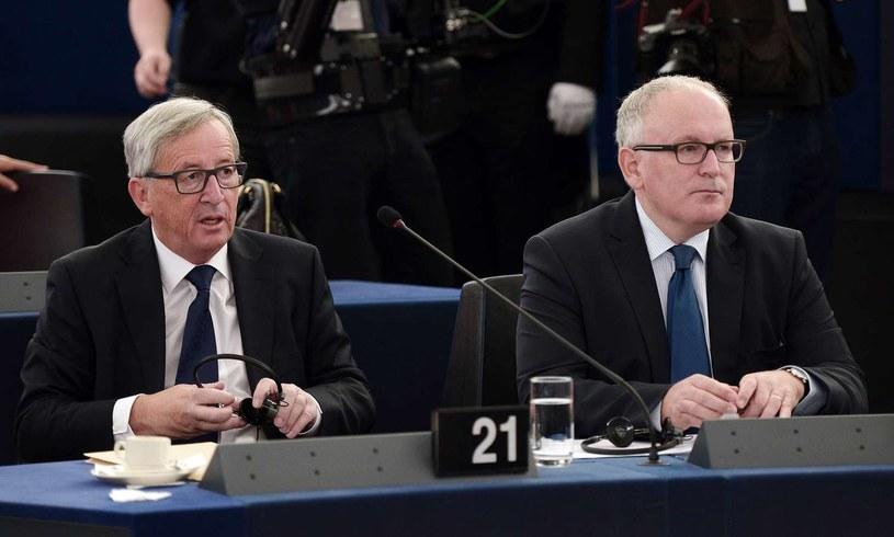 Jean-Claude Juncker i Frans Timmermans /FREDERICK FLORIN /AFP