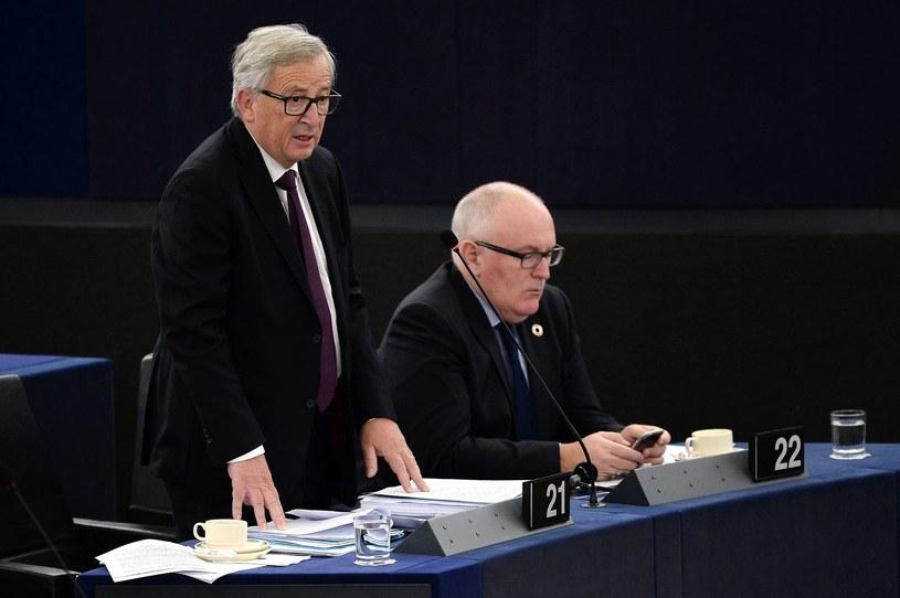 Jean-Claude Juncker i Frans Timmermans /AFP