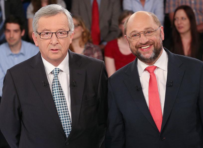 Jean-Claude Juncker i Martin Schulz /AFP