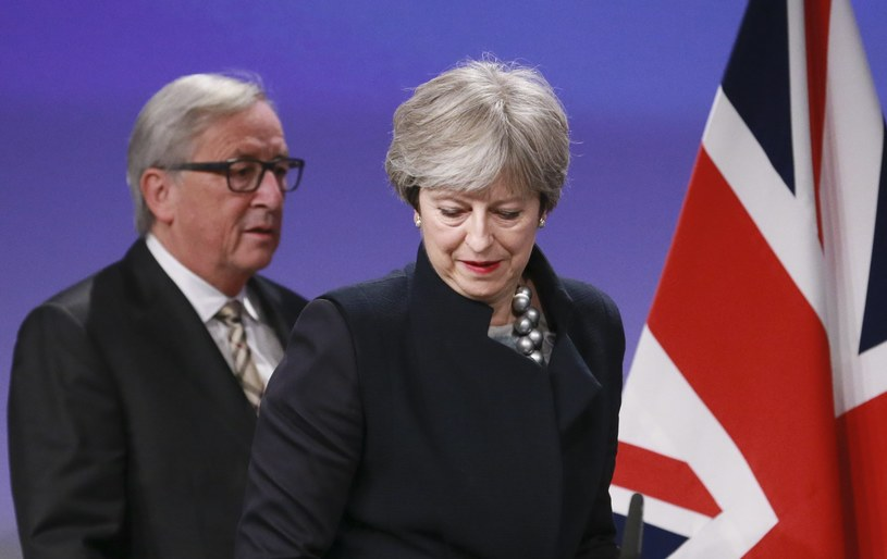 Jean-Claude Juncker i Theresa May /OLIVIER HOSLET /PAP/EPA