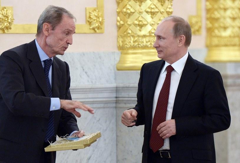 Jean-Claude Killy (z lewej) i Władimir Putin /AFP