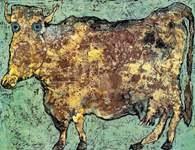 Jean Dubuffet, Krowa o subtelnym nosie, 1954 /Encyklopedia Internautica