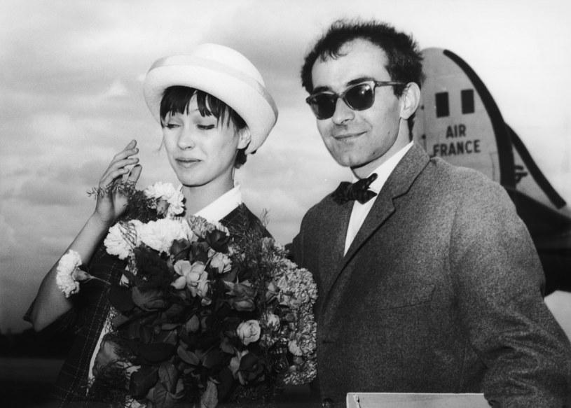 Jean-Luc Godard ze swoją żoną Anną Kariną (1961), fot. Hulton Archive /Keystone /Getty Images