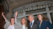 Jean-Marie Le Pen z trzema córkami w 1988 roku