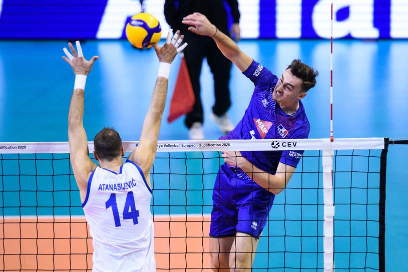 Jean Patry w meczu z Serbią /www.cev.eu