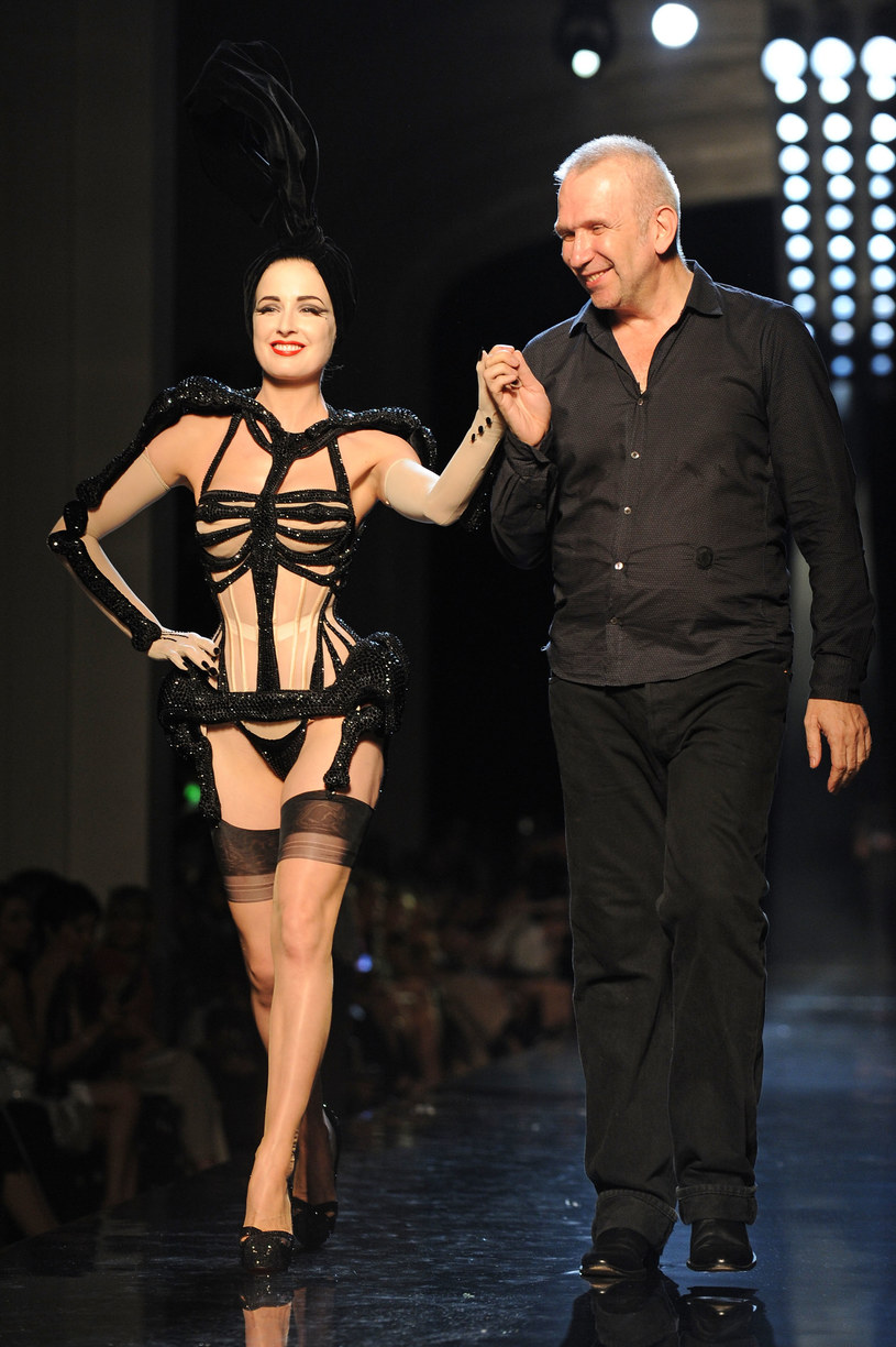 Jean-Paul Gaultier i Dita Von Teese   /Getty Images/Flash Press Media