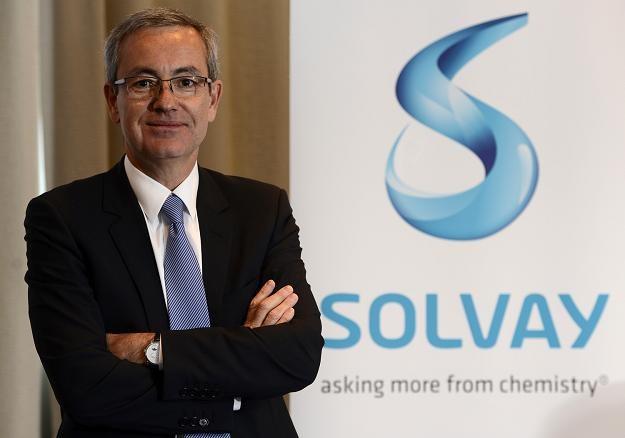 Jean-Pierre Clamadieu, prezes firmy Solvay /AFP