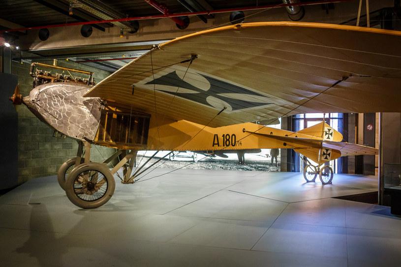 """Jeannin """"Stahltaube"""" po renowacji w berlińskim muzeum ze zmienionym numerem na kadłubie - A. 180/14 (źródło: Odkrywca) /"""