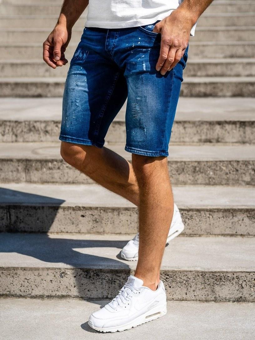 Jeansowe spodenki męskie /materiały promocyjne